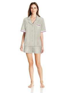 DKNY Women's Short Sleeve Top and Boxer  S