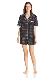 DKNY Women's Short Sleeve Top and Boxer  XL