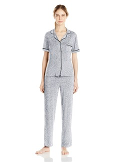 DKNY Women's Short Sleeve Top and Pant Set  L