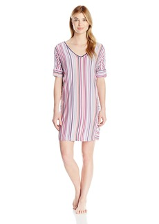 DKNY Women's Short Sleeve V Neck Sleepshirt  S