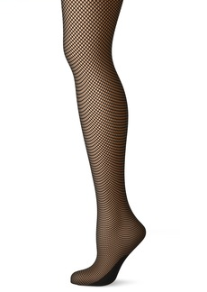 DKNY Women's Softest Fishnet Tight  S/M