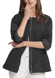 Dkny Zip-Front Drawstring Jacket