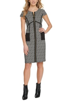 Dkny Zip-Front Sheath Dress