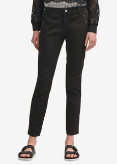 Dkny Zip-Pocket Skinny Chino Pants, Created for Macy's