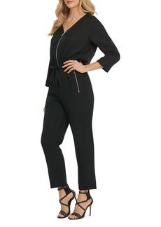 DKNY Zip-Up Jumpsuit