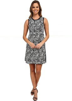 Compact Stretch Pixel Mix Sweater Dress