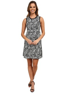 DKNYC Compact Stretch Pixel Mix Sweater Dress