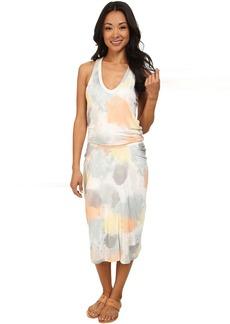 DKNYC Elastic Waist Racerback Dress