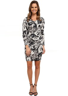 Marble Sleek Jersey Ruched Dress