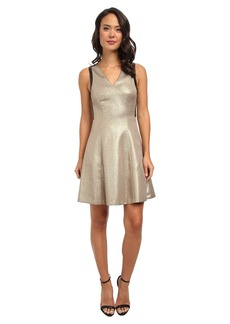 DKNYC Ponte Pieced Flare Dress