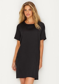 DKNY Donna Karan + Pleated Jersey & Satin Sleep Shirt