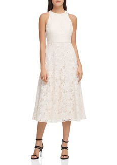 DKNY Donna Karan Abstract Lace Dress
