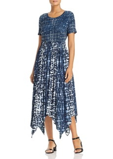 Donna Karan Abstract Print Handkerchief Dress