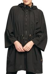 DKNY Donna Karan Active Mesh Bell-Sleeve Hooded Anorak