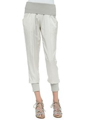DKNY Donna Karan Ankle Pants W/ Ribbed Waist & Cuffs