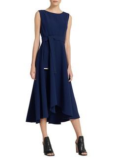 DKNY Donna Karan Asymmetric A-Line Midi Dress