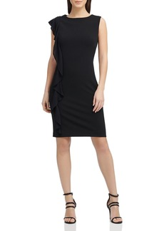 DKNY Donna Karan Asymmetric Scuba Crepe Dress