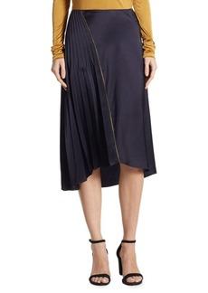 DKNY Asymmetrical Pleated Skirt