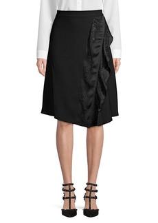 DKNY Donna Karan Asymmetrical Ruffled Skirt