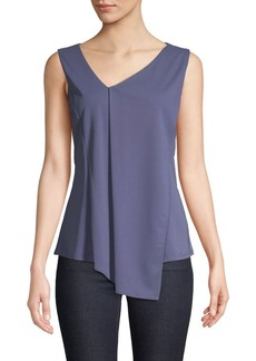 DKNY Donna Karan Asymmetrical V-Neck Top