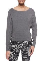 DKNY Donna Karan Bateau-Neck Long-Sleeve Top