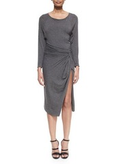 DKNY Donna Karan Bateau-Neck Split-Skirt Dress