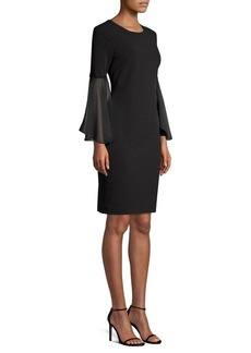 DKNY Donna Karan Bell Sleeve Sheath Dress
