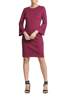 DKNY Donna Karan Bell Sleeve Sheath Dress