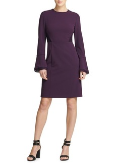 DKNY Donna Karan Bell-Sleeve Sheath Dress