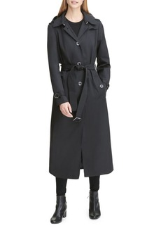 DKNY Belted Maxi Trench Coat