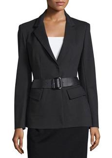 Donna Karan Belted Peplum Jacket