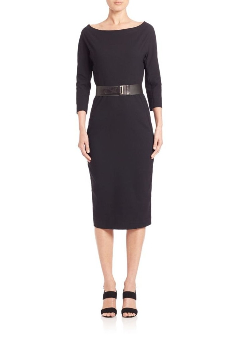 DKNY Donna Karan Belted Sheath Dress