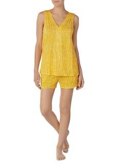 c8495f6de0 DKNY Dkny Logo Contrast-Piping Knit Boxer Pajama Set