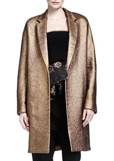 Donna Karan Burnished Metallic Easy Coat