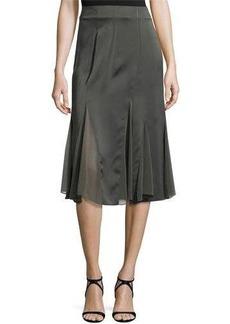 Donna Karan Chiffon Godet Skirt