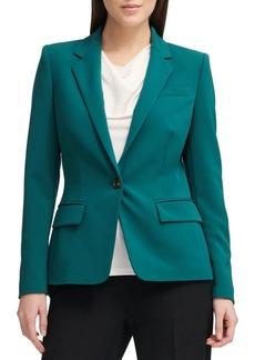 DKNY Donna Karan Classic One-Button Blazer