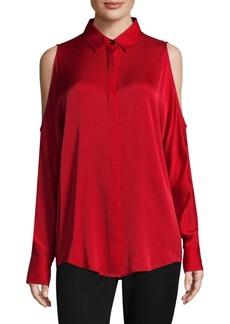 DKNY Cold-Shoulder Top