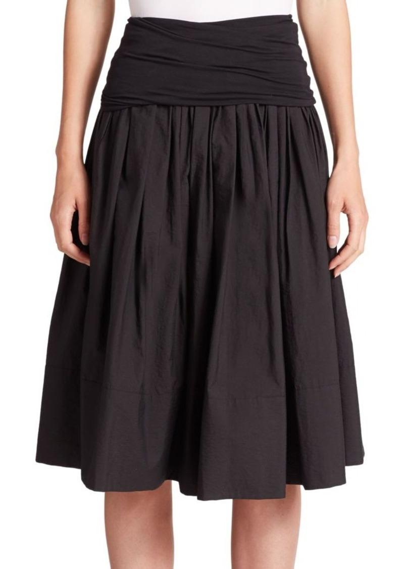 DKNY Donna Karan Cotton-Blend Full Skirt