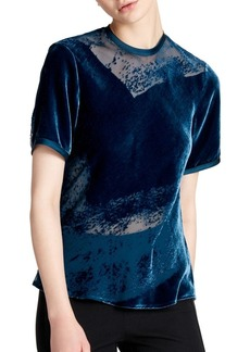DKNY Donna Karan New York Crewneck Burnout Blouse