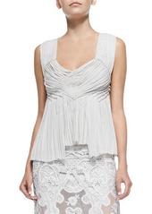 DKNY Donna Karan Crisscross-Back Smocked Top