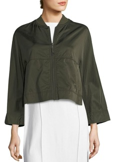 DKNY Donna Karan Cropped Bomber Jacket