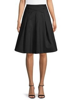 DKNY Donna Karan Cross Waist Cotton-Blend Skirt