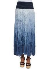 DKNY Donna Karan Dip Dye Broomstick Skirt