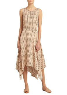 Dotted Sharkbite Hem Dress