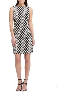 DKNY Donna Karan Dotted Sleeveless Sheath Dress