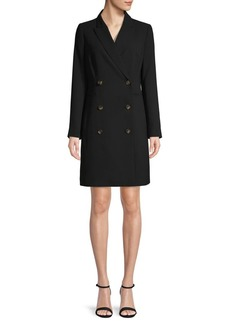 DKNY Donna Karan Double-Breasted Blazer Dress