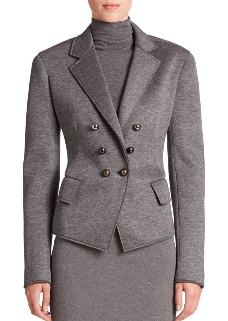DKNY Donna Karan Double-Breasted Jersey Jacket