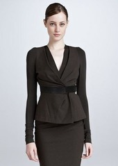 DKNY Donna Karan Draped Shirt Jacket