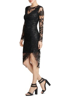 DKNY Donna Karan Embroidered Lace Illusion Sheath Dress
