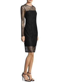 DKNY Donna Karan Embroidered Lace Shift Dress